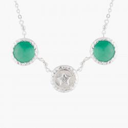 Colliers Fins Collier Pendentif Étoile Et Agate Verte