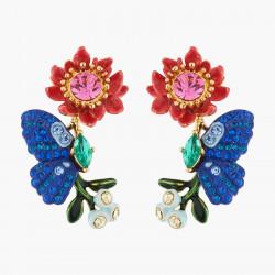 Boucles D'oreilles Tiges Boucles D'oreilles Tiges Papillon Ulysses Et Fleur De Waratah