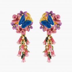 Boucles D'oreilles Pendantes Boucles D'oreilles Tiges Royal Blue Bell Et Common Heath