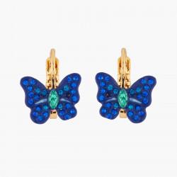 Boucles D'oreilles Dormeuses Boucles D'oreilles Dormeuses Papillon Ulysses Et Cristaux60,00€ AKEP105D/1Les Néréides