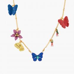 Colliers Sautoirs Collier Sautoir Papillon Ulysses Et Fleurs D'australie195,00€ AKEP306/1Les Néréides