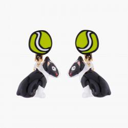 Boucles D'oreilles Boucles D'oreilles Clips Bull Terrier Et Balle De Tennis75,00€ AKNA102C/1N2 by Les Néréides