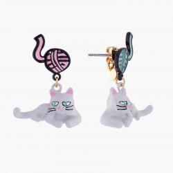 Boucles D'oreilles Boucles D'oreilles Tiges Chat Persan Et Pelote De Laine75,00€ AKNA103T/1N2 by Les Néréides