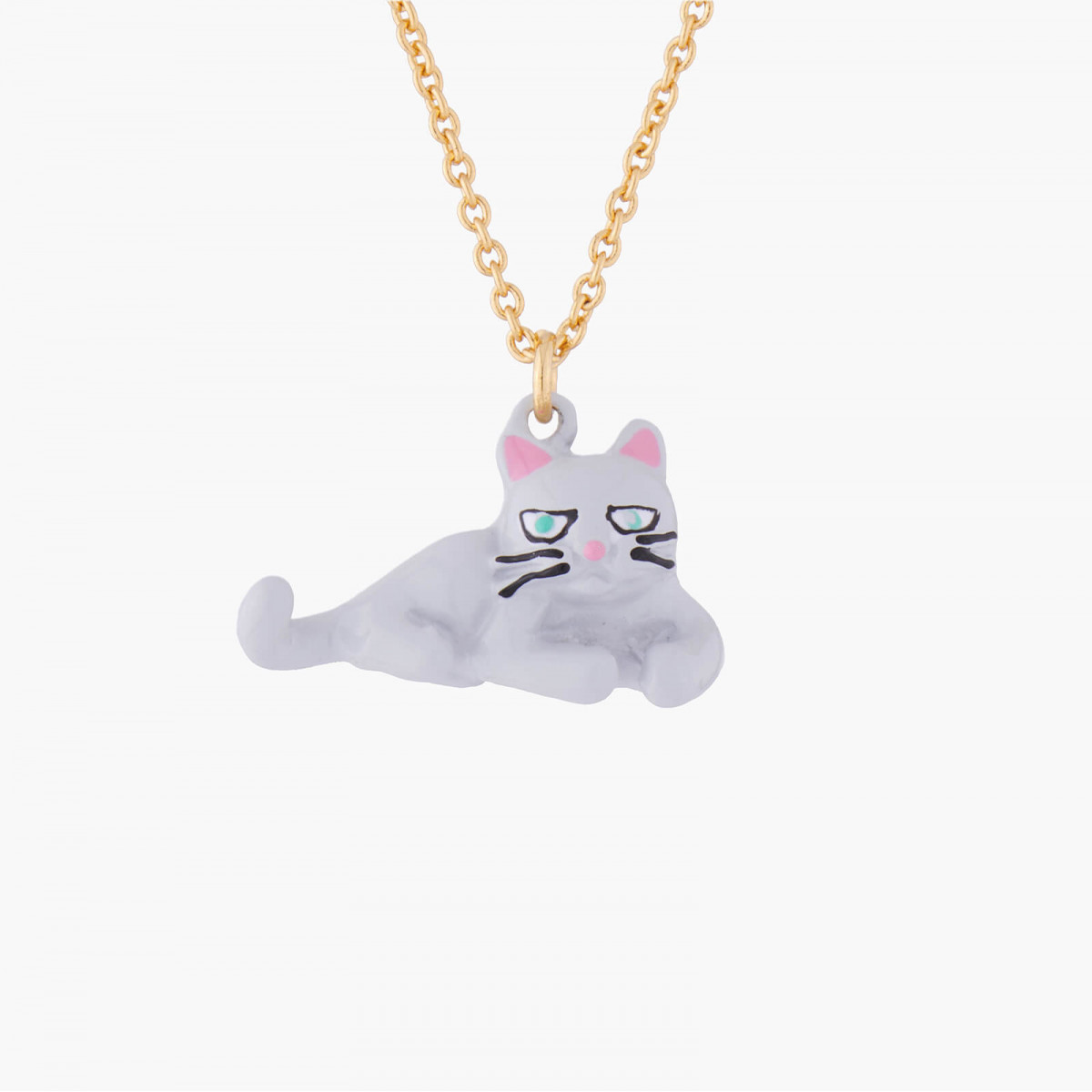 Colliers Collier Pendentif Chat Persan