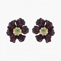 Stud Earrings Rose Blossom...