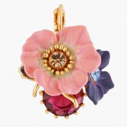Boucles D'oreilles Dormeuses Boucles D'oreilles Dormeuses Fleur De Pommier Et Rose Sauvage Sur Pierre150,00€ AKPC104D/1Les N...