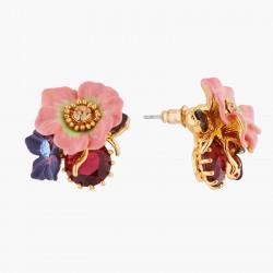 Boucles D'oreilles Tiges Boucles D'oreilles Tiges Fleur De Pommier Et Rose Sauvage Sur Pierre150,00€ AKPC104T/1Les Néréides