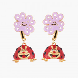 Merry Ladybug Clip On Earrings