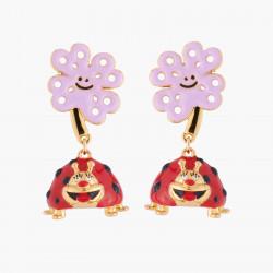 Boucles D'oreilles Originales Boucles D'oreilles Tiges Coccinelle Joyeuse80,00€ AKRB102T/1N2 by Les Néréides