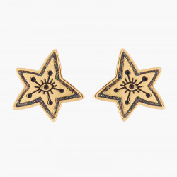 Star And Eye Stud Earrings