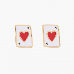 Ace Of Heart Stud Earrings