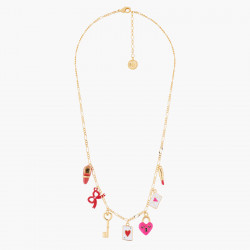 Colliers Collier Fin Charms Amour