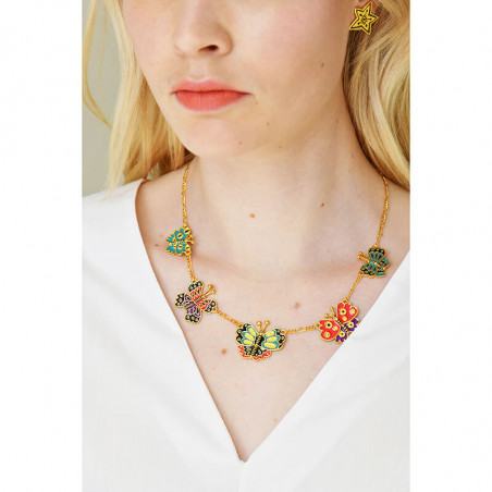 Créoles orange et petites perles