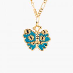 Colliers Collier Pendentif Joyeu Papillon Bleu