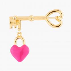 Accessoires Broche Clef Et Cœur