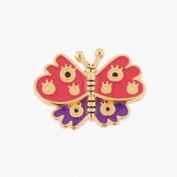 Accessoires Pin's Joyeux Papillon Rouge
