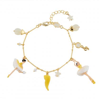 Bracelets Charms Bracelet Ballerine Jaune Citrine Et Pampilles