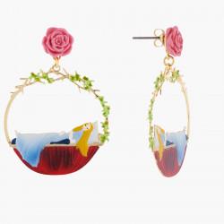Boucles D'oreilles Créoles Tiges Belle Endormie Et Rose80,00€ AKSB107T/1N2 by Les Néréides