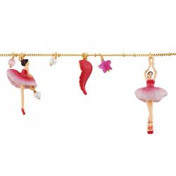 Bracelets Charms Bracelet Ballerine Grenadine Et Pampilles