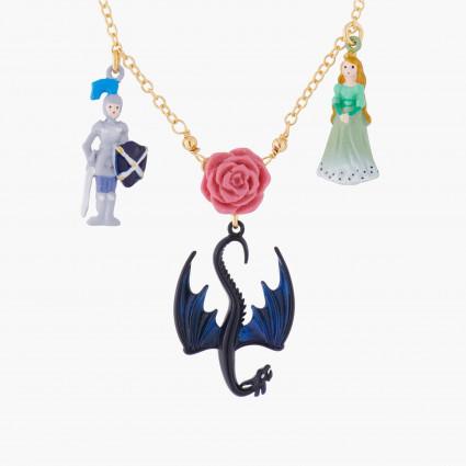 Colliers Collier Pendentif Belle Endomie, Prince Charmant Et Dragon