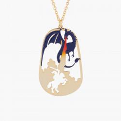 Colliers Collier Pendentif Prince Charmant Et Dragon