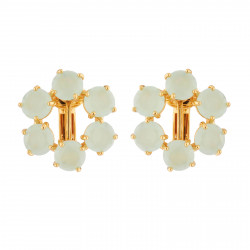 Boucles D'oreilles Clip Clip Round Earrings Small Six Stones La Diamantine Vert D'eau80,00 € XLD142C/1Les Néréides
