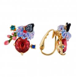 Boucles D'oreilles Clip Boucles D'oreilles Clip Anémone Et Boutons De Rose Sur Verre Taillé75,00€ AHED109C/1Les Néréides