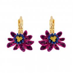 Boucles D'oreilles Dormeuses Boucles D'oreilles Dormeuses Petite Fleur Violette De Fruit De La Passion