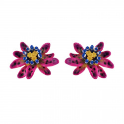 Boucles D'oreilles Tiges Boucles D'oreilles Petite Fleur Violette De Fruit De La Passion