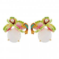 Boucles D'oreilles Tiges Boucles D'oreilles Plante Carnivore Sur Verre Taillé