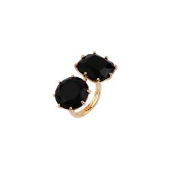 2 Black Sones Toi Et Moi Ring