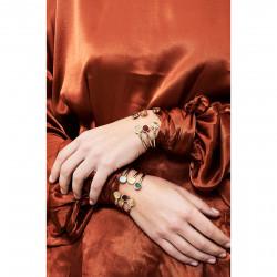 Bracelets Jonc Bracelet Jonc Chanceux Fleur De Lys Et Pierre Symbole De Pouvoir50,00€ AHBC203/1Les Néréides