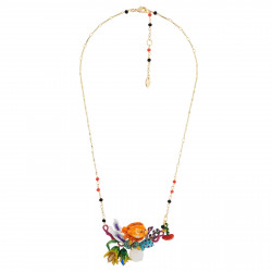 Fish On Flowerbed Necklace