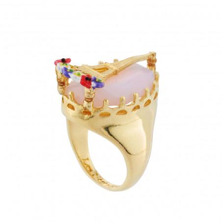 Aurore purple round stone clip earrings