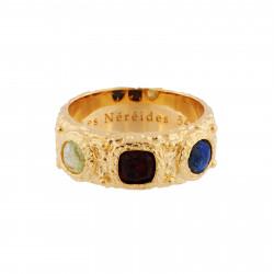 Aurore purple round stones luxurious necklace