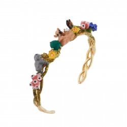 Bracelets Jonc Bracelet Manchette Faon Et Lapin Étendus Dans La Clairière140,00€ AIDC203/1Les Néréides