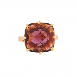 Square Plum Stone Ring