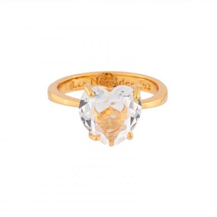 Bague Solitaire Bague Solitaire Pierre Cœur La Diamantine Cristal50,00€ AILD617/2Les Néréides