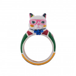 Ring With Cat Wearing A...