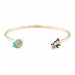 Bracelets Jonc Bracelet Jonc Rouge-gorge Et Cristal Taillé110,00€ AJED201/1Les Néréides
