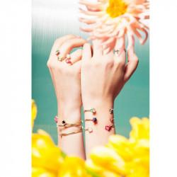 Bracelets Jonc Bracelet Jonc Fleurs Exotiques, Coraux Et Pierre Naturelle120,00€ AJED202/1Les Néréides