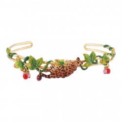 Bracelets Jonc Bracelet Manchette Ocelot, Feuillage Tropical Et Perles De Verre150,00€ AJLC203/1Les Néréides