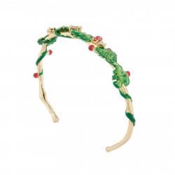 Bracelets Jonc Bracelet Manchette Feuillage Tropical Et Cristal120,00€ AJLC204/1Les Néréides