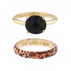 Bracelet 5 pierres noires