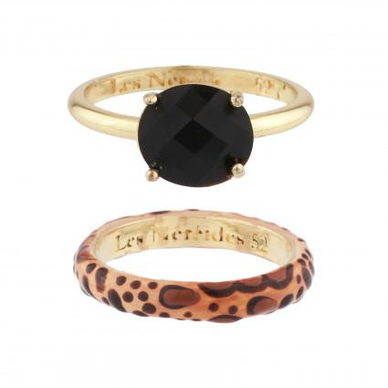 5 black stones bracelet