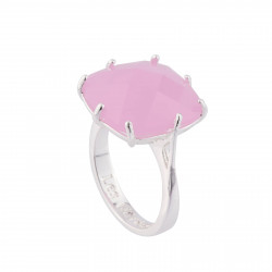 Bague Solitaire Bague La Diamantine Pierre Carrée Rose