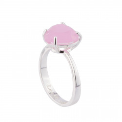Bague Solitaire Bague La Diamantine Pierre Coeur Rose
