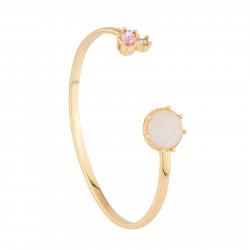 Bracelets Jonc Bracelet Jonc Avec Quartz Et Strass Rose110,00€ AJPF201/1Les Néréides