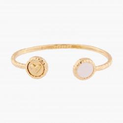 Bracelets Jonc Bracelet Jonc Cœur Et Quartz Rose90,00€ AKBC201/1Les Néréides