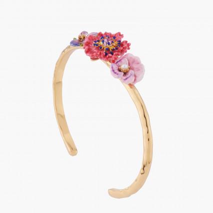Bracelets Jonc Bracelet Jonc Violette, Œillet Et Pensée150,00€ AKMP205/1Les Néréides